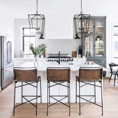 Pin by designed simple on home kitchen in 2019 кухня, вытяжки, мебель. Modern Farmhouse Kitchens, Home Kitchens, Farmhouse Style Bar Stools, Rustic Bar Stools, Modern Bar Stools, Home Decor Kitchen, New Kitchen, Summer Kitchen, Kitchen Ideas