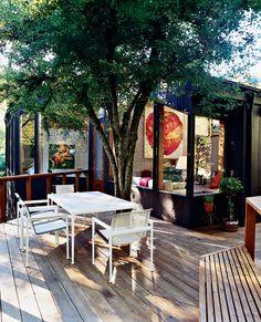 back patio of Ben Watson & Claudio Tschopp's house in Portland / photo by John Clark