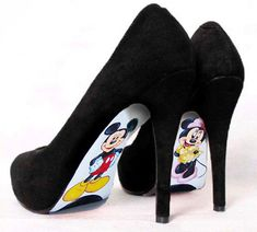 Custom hand painted Mickey Mouse and Minnie Mouse by AshtonAtelier, $45.00
