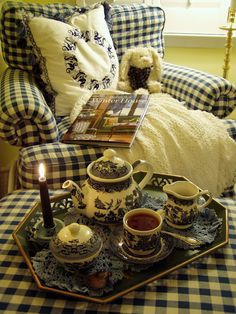 "Cozy! Comfy! Aah yes, the afternoon tea time that seems to be in every English detective mystery. It doesn't matter what Earth shattering event is happening, they will stop to have a ""cuppa"". :)"