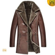 Classic mens designer sheepskin shearling coats, includes quality thick lamb fur interior and real Australian leather shell fabric, quality winter sheepskin shearling coats on sale!