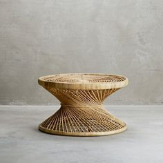 Round rattan coffee table for the botanical decor | Products | Tine K Home