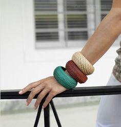 """Make designer-inspired """"straw"""" bangles"""