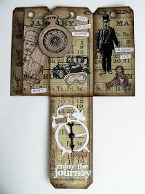 """Von Pappe II: Time Traveler - an """"all Tim Holtz"""" multi-fold tag ;)"""