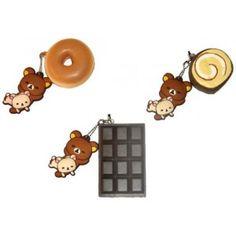 *Exclusive* Rilakkuma & Korilakkuma Sweets Squishy Cellphone Strap. 3 Styles to choose!