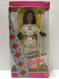 (TAS032140) - 1992 Mattel Barbie Native American Special Edition Doll