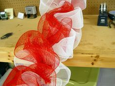 How to Make a Mesh Netting Garland - Trendy Tree Blog