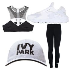 """""""My First Polyvore Outfit"""" by chemistry2 ❤ liked on Polyvore featuring This Is a Love Song, adidas, Ivy Park and NIKE"""