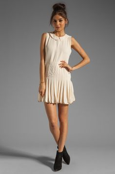 Lovers + Friends x BECAUSE IM ADDICTED Sophistication Dress in Cream