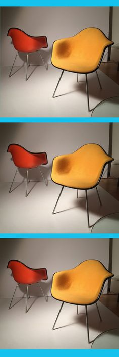 Wow!  The colors of vintage authentic #Eames chairs  @hermanmiller