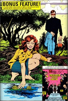 Scott and Jean (actually the Phoenix Force AS Jean) in an alternate ending to the Dark Phoenix Saga