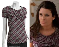 "The release of the deleted ""Hello Hello Hello Love"" scene is extra exciting for us, because we get a glimpse of a new (old?) Rachel Berry outfit that, like the scene, had hit the cutting room floor. Marc by Marc Jacobs Plaid Ruffle Crewneck. Glee Fashion, Fashion Styles, Rachel Berry Style, Love Scenes, Pretty Shirts, Best Natural Skin Care, Special Dresses, Everyday Fashion, Marc Jacobs"