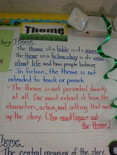 Theme - I've always struggled to teach this concept, but I think last years kiddos got it!