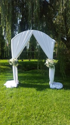 Arch Draping for a photo shoot at the Rustika Guest Lodge