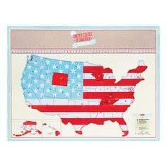 Scratch Map U.S. Edition, $21.95, now featured on Fab.