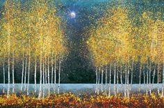 moon painting | ... Graves-Brown Paintings - Melissa Graves-Brown Blue Moon Painting