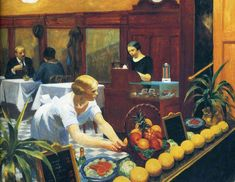 Edward Hopper - Tables for Ladies 1930