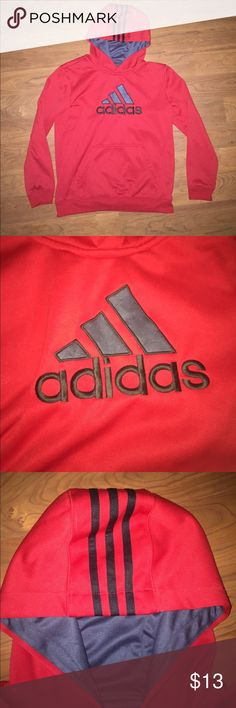 Boys Addidas red hoodie Never worn! Very soft and comfortable. Warm material, resistant to water. Shirts & Tops Sweatshirts & Hoodies