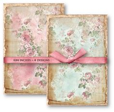 Digital Collage Sheet Download Shabby Roses by vintagebyme