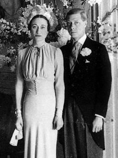 June 3, 1937: Wedding photo of the recently abdicated King Edward VIII and Wallis Simpson. (m. 1937, until his death in 1972)