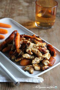 POLLO E CAROTE IN PADELLA un secondo piatto veloce e molto gustoso! #pollo #ricette #carote