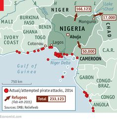The Gulf of Guinea has replaced the waters off Somalia as the world's piracy hotspot. Why? http://econ.st/1MeZiGb