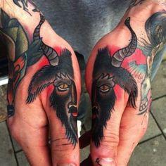 Tattoo goat on both hands  - http://tattootodesign.com/tattoo-goat-on-both-hands/  |  #Tattoo, #Tattooed, #Tattoos