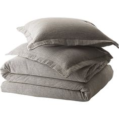 weekendr graphite chambray bedding