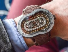 """Azimuth SP-1 Crazy Rider 'Bike Chain' Watch Hands-On - by Richard Cantley - Road worthy? Check out this chain at: aBlogotWatch.com - """"We see a lot of car-inspired watches, don't we? What about watches inspired in part by motorcycles? Not as much. Well, the Azimuth SP-1 Crazy Rider watch offers a very literal interpretation of that design theme. It claims inspiration from the winding interstates of the U.S. highway system, and if you can't tell by the name..."""""""