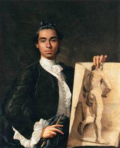 Self-Portrait, ca. 1746 (Luis Melendez) (1716-1780) Musée du Louvre, Paris
