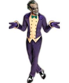 Fancy Dress Arkham Joker Costume.