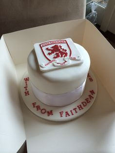 Giant Middlesbrough FC cake