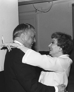 Frank Sinatra and Claudette Colbert