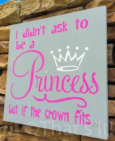 if the crown fits hand painted wood sign princess sign girls bedroom teen g Bedroom Decor For Teen Girls, Teenage Girl Bedrooms, Diy For Girls, Bedroom Ideas, Girl Rooms, Glitter Bedroom, Painted Wood Signs, Hand Painted, Painting Of Girl