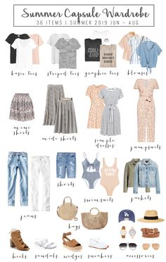 How to Build a Summer Capsule Wardrobe – travel outfit summer Capsule Wardrobe How To Build A, Fall Capsule Wardrobe, Summer Wardrobe, Travel Wardrobe, Capsule Outfits, Fashion Capsule, Fashion Outfits, Workwear Fashion, Travel Outfits