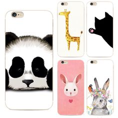 Fashion Ctoon Panda Soft TPU Phone Case For Apple iPhone 5 5s SE Luxurious Animal Silicon coque Cute Girl Back Cover