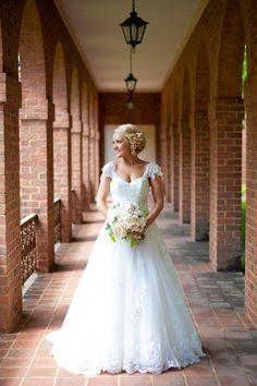 gorgeous lace gown   Rebekah Hoyt #wedding