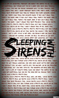 Sleeping With Sirens.If you can't hang background/wallpaper Band Quotes, Music Quotes, Sirens Lyrics, Emo Wallpaper, Band Wallpapers, Sleeping With Sirens, Emo Bands, Pierce The Veil, Sale Poster