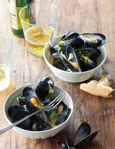 Mussels Steamed in Belgian Ale, Shallots