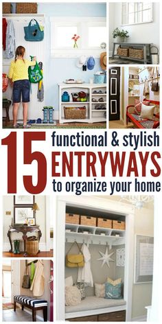 No more tripping over shoes and bags in the entryway with these organization tips, tricks and DIY ideas to make your entry beautiful and functional.
