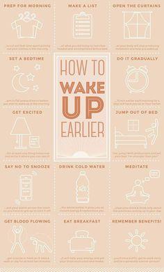 Wake up earlier!