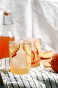 Peach Shrub by brooklynsupper: If you were looking for opposite of a schmancy cocktail, and you wanted something simple and down-home and good, surely then you would want a shrub... #Cocktail #Peach