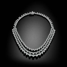For Sale on - A stunning masterpiece to complete any collection. This captivating necklace features over 80 Carats of some of David Rosenberg's most exceptional Diamonds. Platinum Jewelry, Stone Cuts, Drop Necklace, Brilliant Diamond, Pear Shaped, Bands, Diamonds, Jewelry Necklaces, Jewelry Making