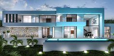 Impressive Small Home Construction Design Ideas 30 Modern House Plans, Small House Plans, Style At Home, Modern Architecture House, Architecture Design, Modular Home Designs, Casa Loft, Modern Villa Design, Hillside House
