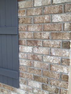 Stone chase brick  Gray mortar