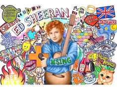 Close up of kristinas ed sheeran drawing