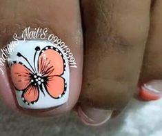 Summer Toe Nails, Pedicure Nail Art, Diana, Beauty Hacks, Tattoos, Pretty Toe Nails, Simple Toe Nails, Toe Nail Art, Ongles