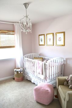 Traditional Pink Nursery w/ Gold Accents - Project Nursery