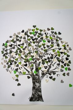 Ideas from the forest: Craft idea: tree of hearts
