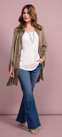 MS Mode tiene una colección variada con novedosos diseños de ropa de mujer, con las últimas tendencias de la moda para las mujeres con una talla grande. Las tallas varían de 40-52. Cute Teacher Outfits, Autumn Clothes, Curvy Girl Fashion, Fashion Over 40, Fashion Face, Spring Outfits, Plus Size Outfits, Winter Fashion, Clothes For Women